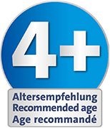 Recommended age: suitable from 4 years upwards for playing indoors and outdoors